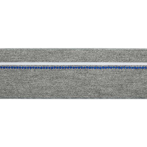 1AS-222 Лента эластичная декоративная 4см розничная упаковка
