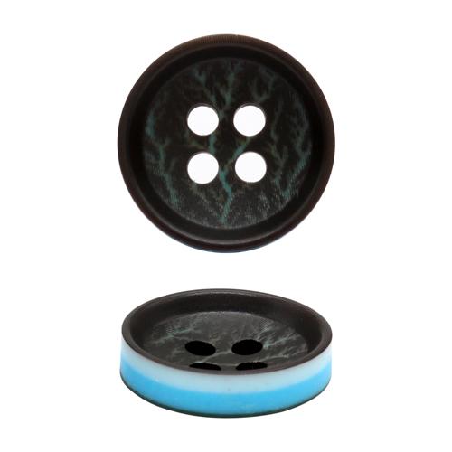 9025 Пуговицы размер S, 15мм (черн/гол)