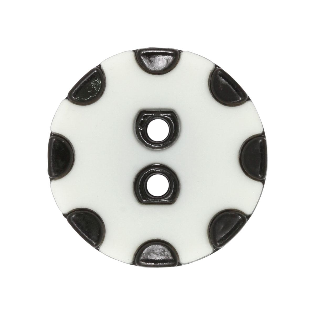 CTO 0533 Пуговицы 30мм (белый/черный) фото