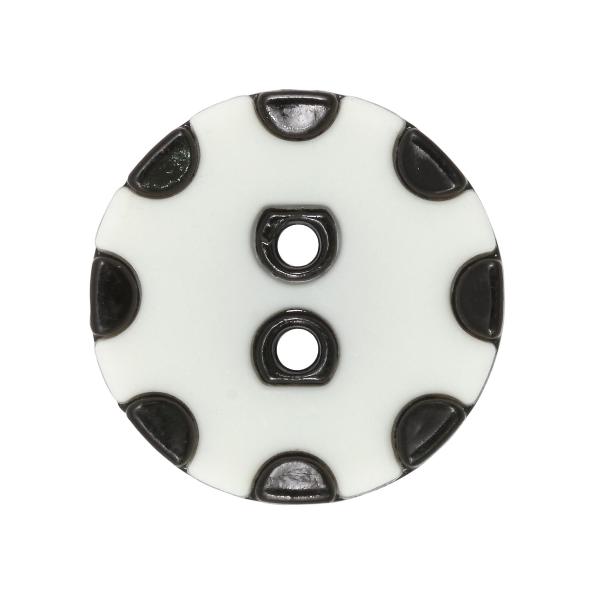 CTO 0533 Пуговицы 25мм (белый/черный)