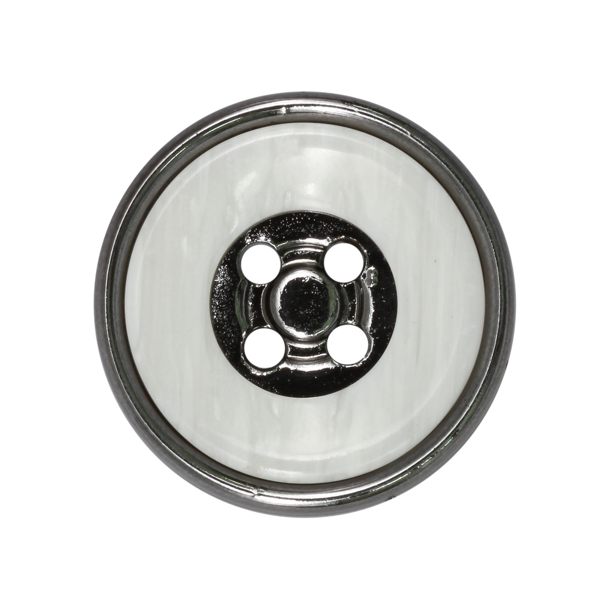 CTO 0489 Пуговицы 22мм (белый/черный никель)