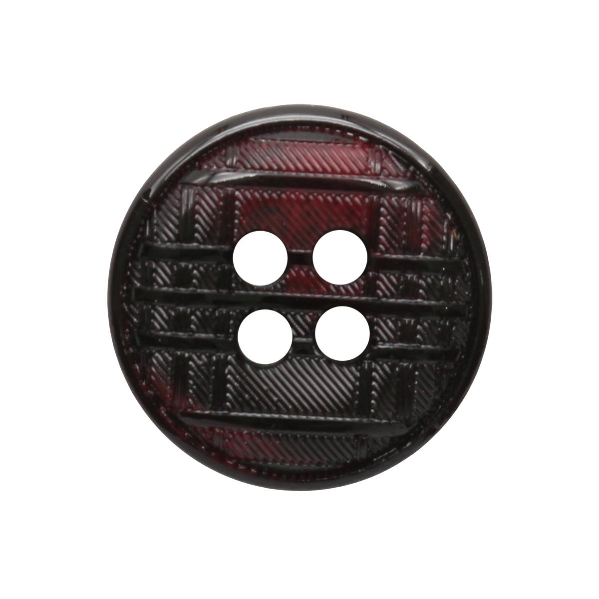 17 1 Пуговица 4 прок. 15мм (черный/красный)