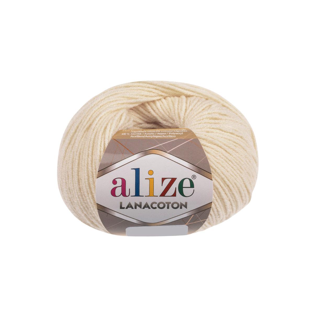 Пряжа Alize 'Lanacoton' 50г 160м (26% шерсть, 26% хлопок, 48% акрил)