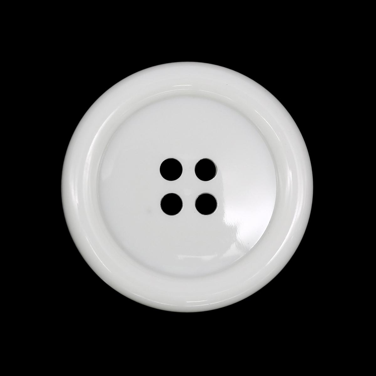 Пуговицы 4 прокола 25мм (белый) фото