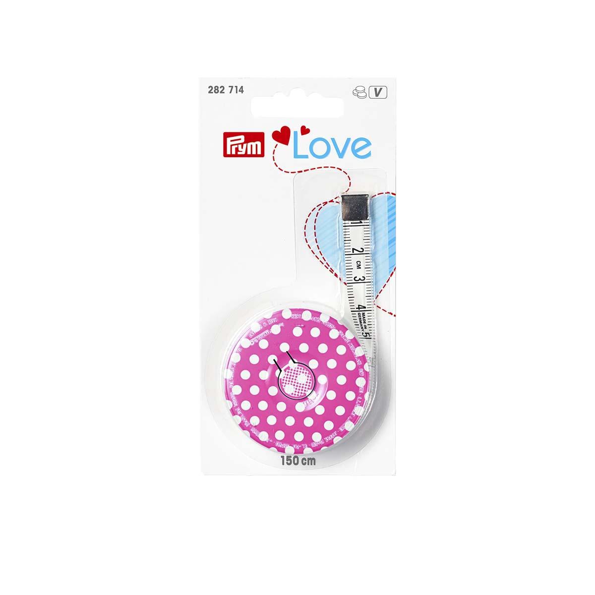282714 Рулетка Prym Love розовая, яркая 150см Prym