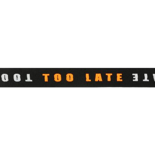 Лента отделочная с надписью 'TOO LATE' 20мм*25м