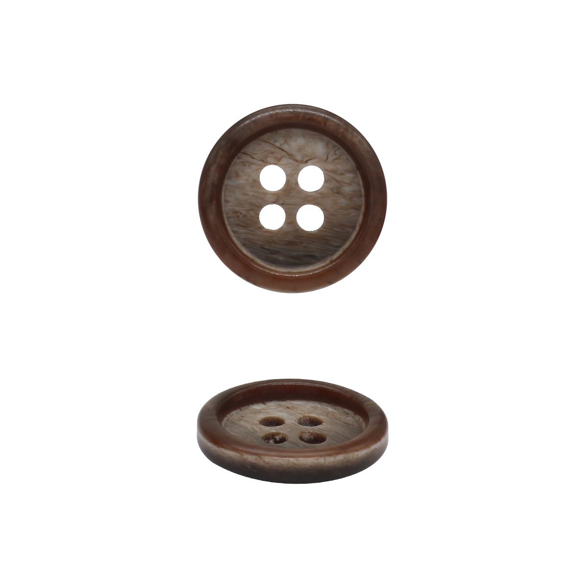 1836 Пуговица 24L (коричневый)