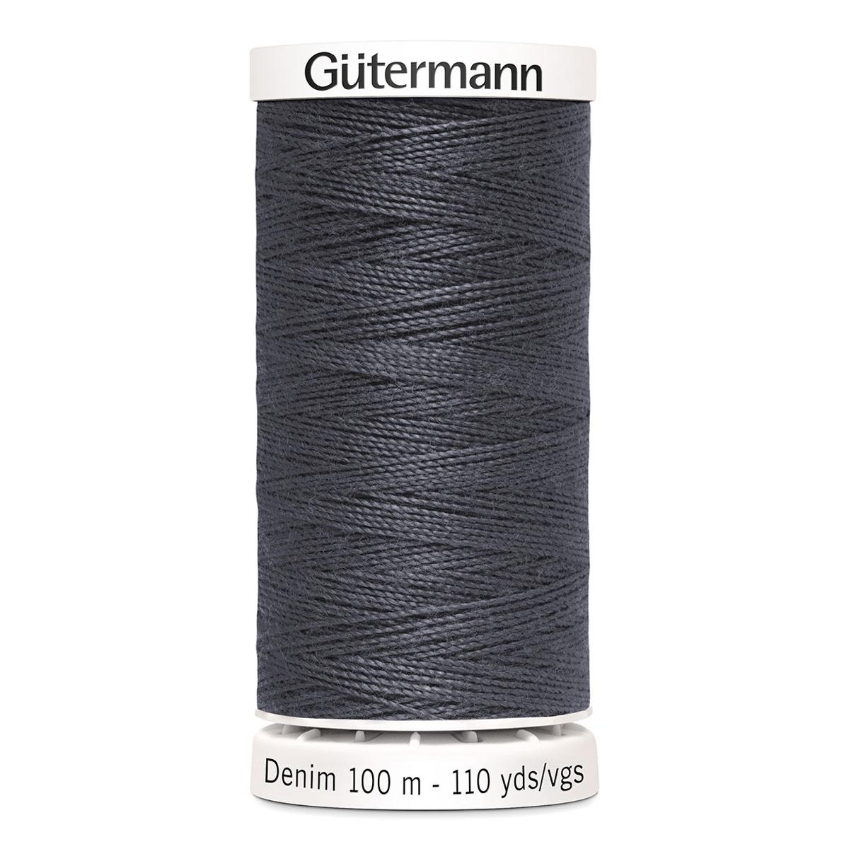 11 Нить DENIM 50 для пошива изделий из джинсовой ткани, 100% п/э 100м Гутерманн 700160 (9455) фото