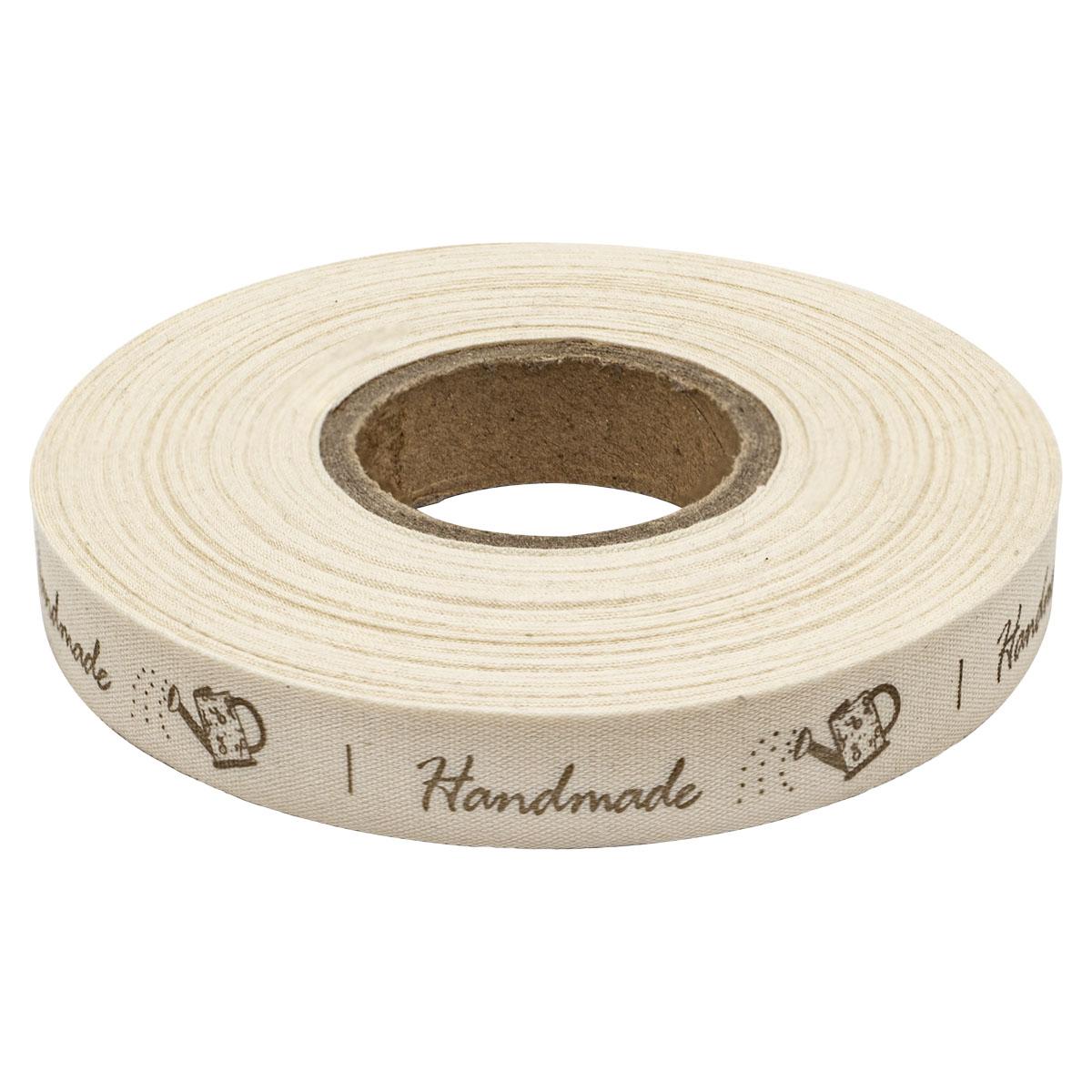 3AR117-1 Лента декоративная 'HandMade' 100% хб 15мм*25 м