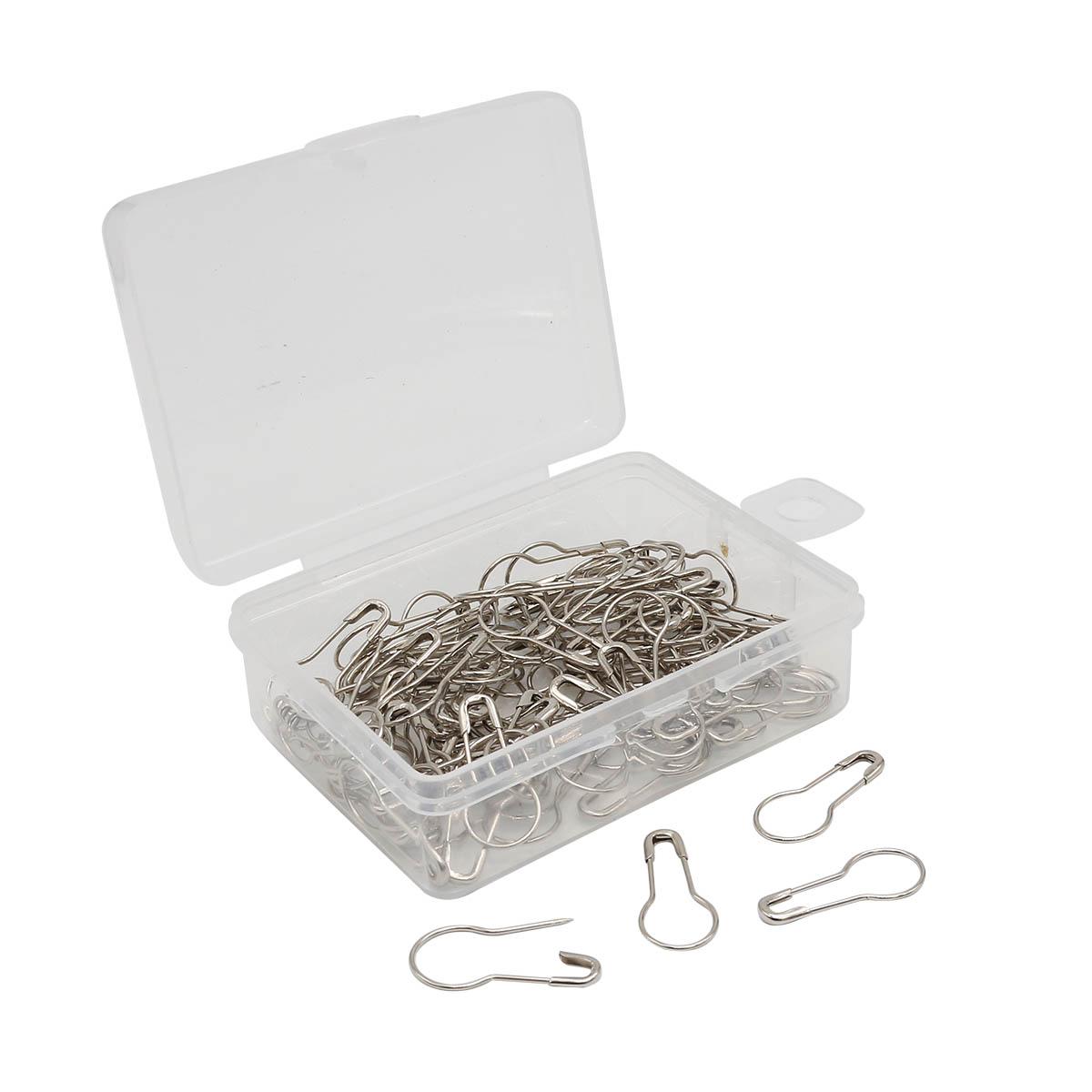 AC006 Булавки для этикеток в футляре, 100шт,серебро Hobby&Pro