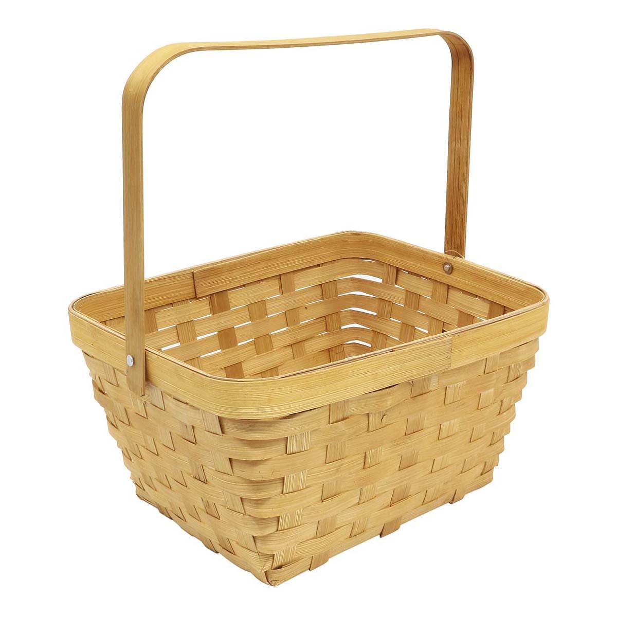 19HJ19074 Корзина плетеная бамбук 23*18,5*11,5*Н25,5см, цв. медово-коричневый Астра