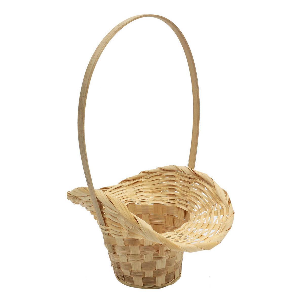 19HJ19079 Корзина плетеная бамбук 'S' 20,5*9*Н30,5см, цв. натуральный Астра