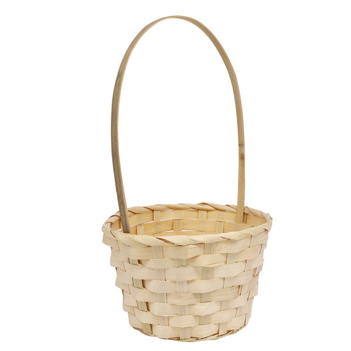 19HJ19084 Корзина плетеная бамбук 18*10*Н33см, цв. натуральный Астра