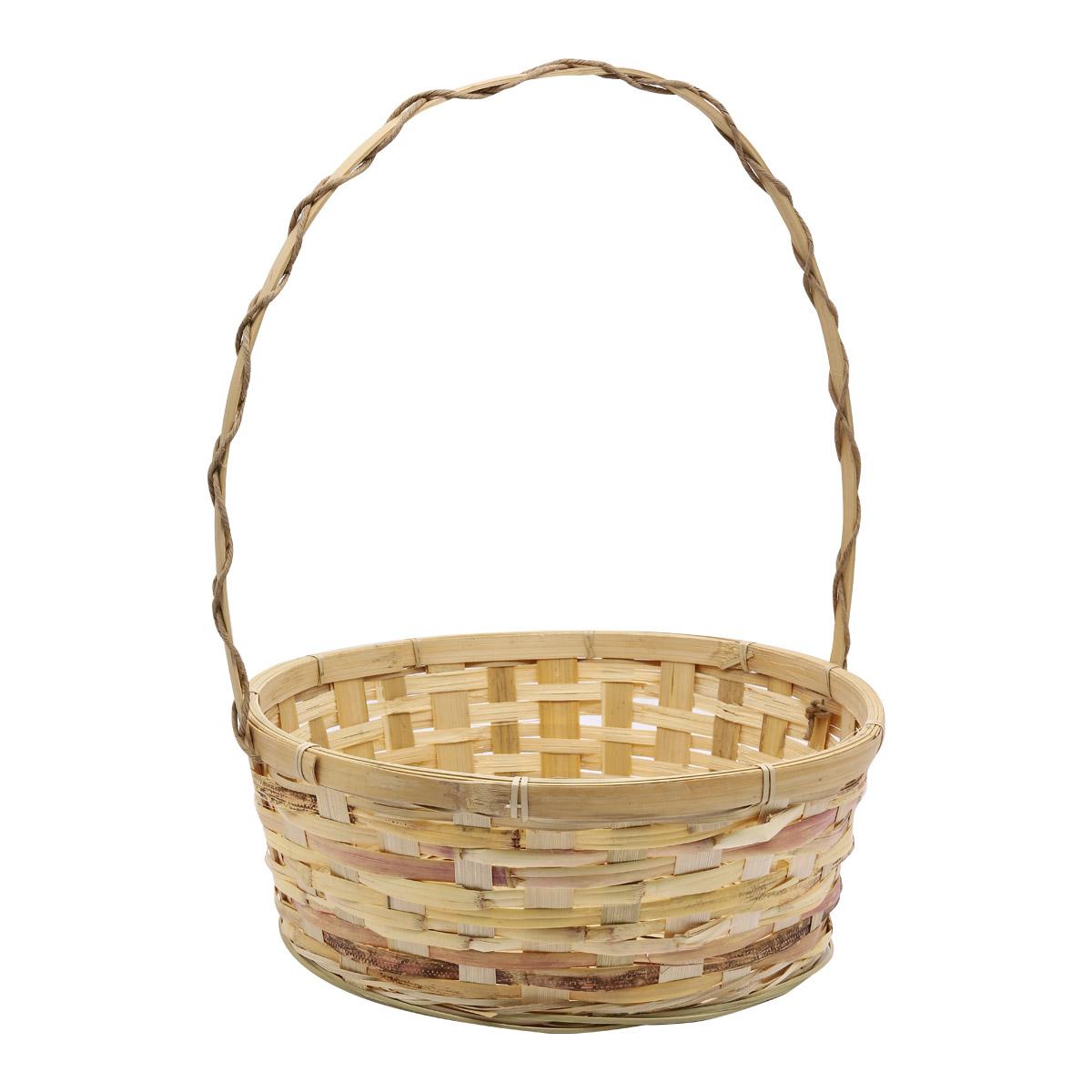 19HJ19085 Корзина плетеная бамбук 32*12*Н38см, цв. натуральный Астра