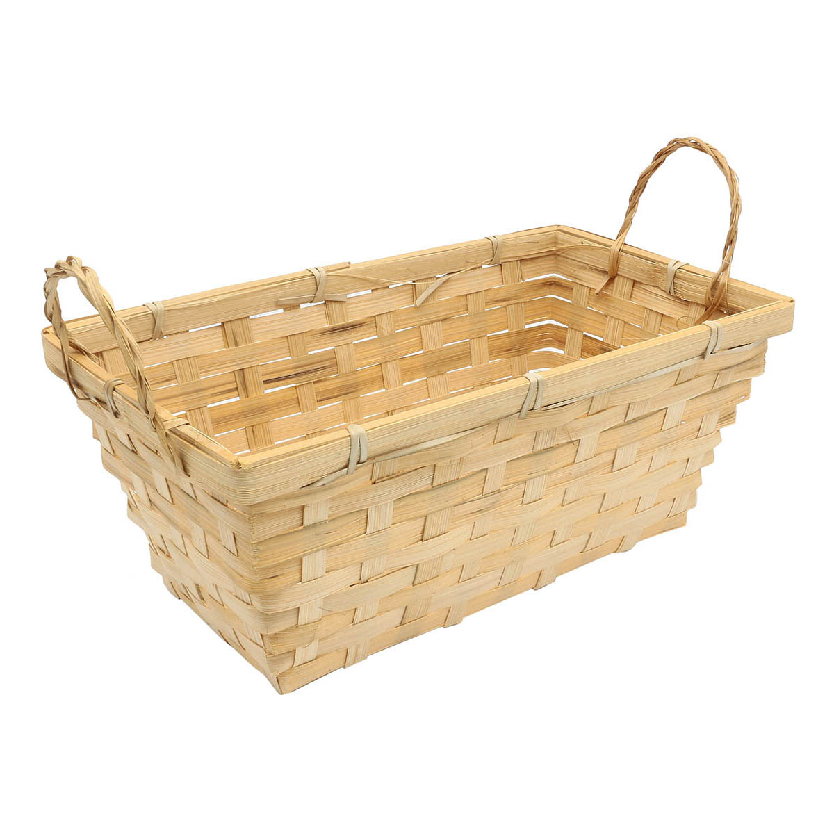 19HJ19086 Корзина плетеная бамбук 27,5*15*Н11см, цв. натуральный Астра
