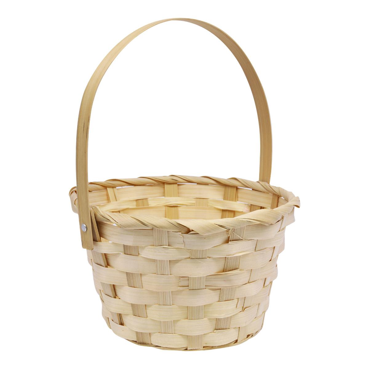 19HJ19087-1 Корзина плетеная бамбук 18*10*H25см, цв. натуральный Астра