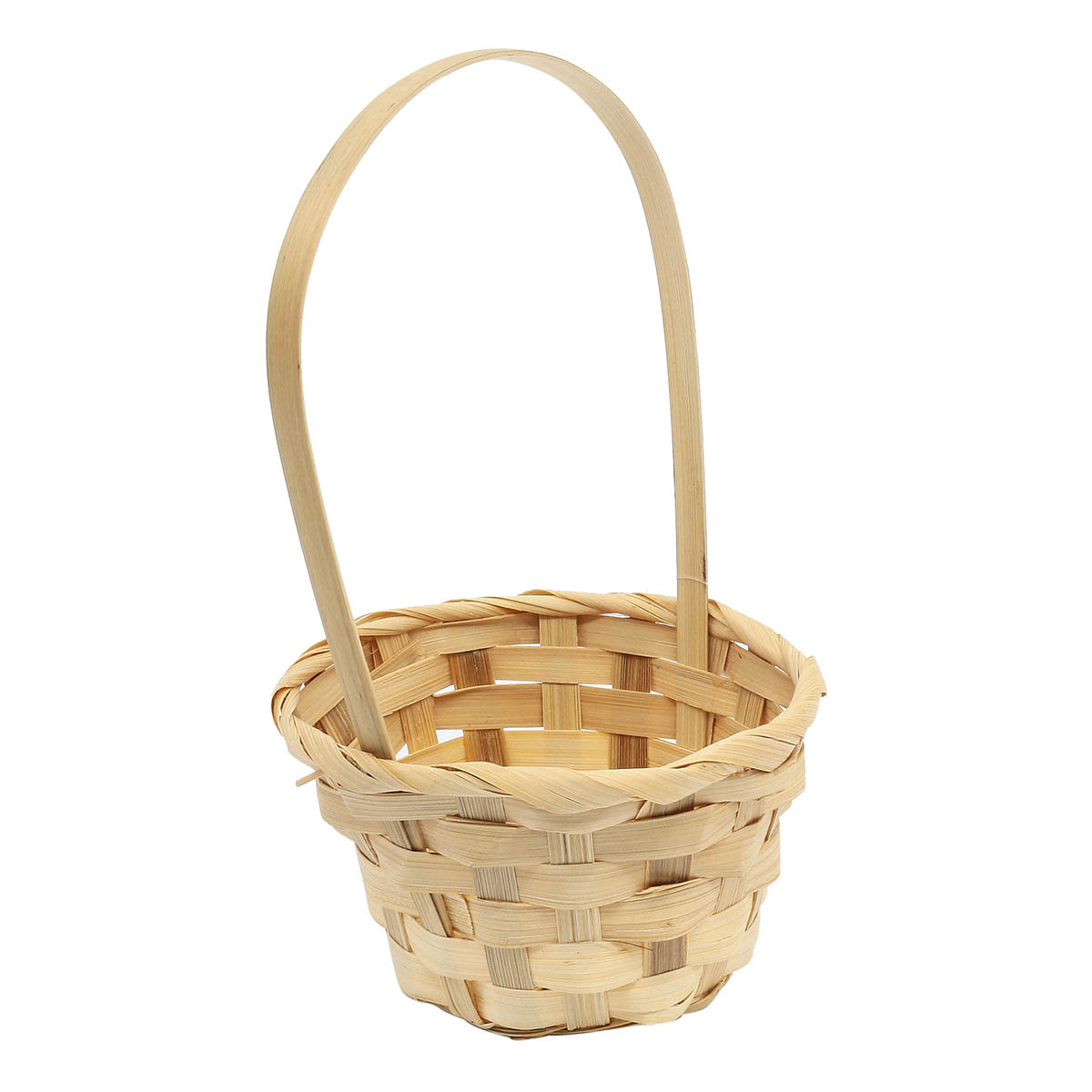 19HJ19091 Корзина плетеная бамбук 11,5*6,5*Н20,5см, цв. натуральный Астра