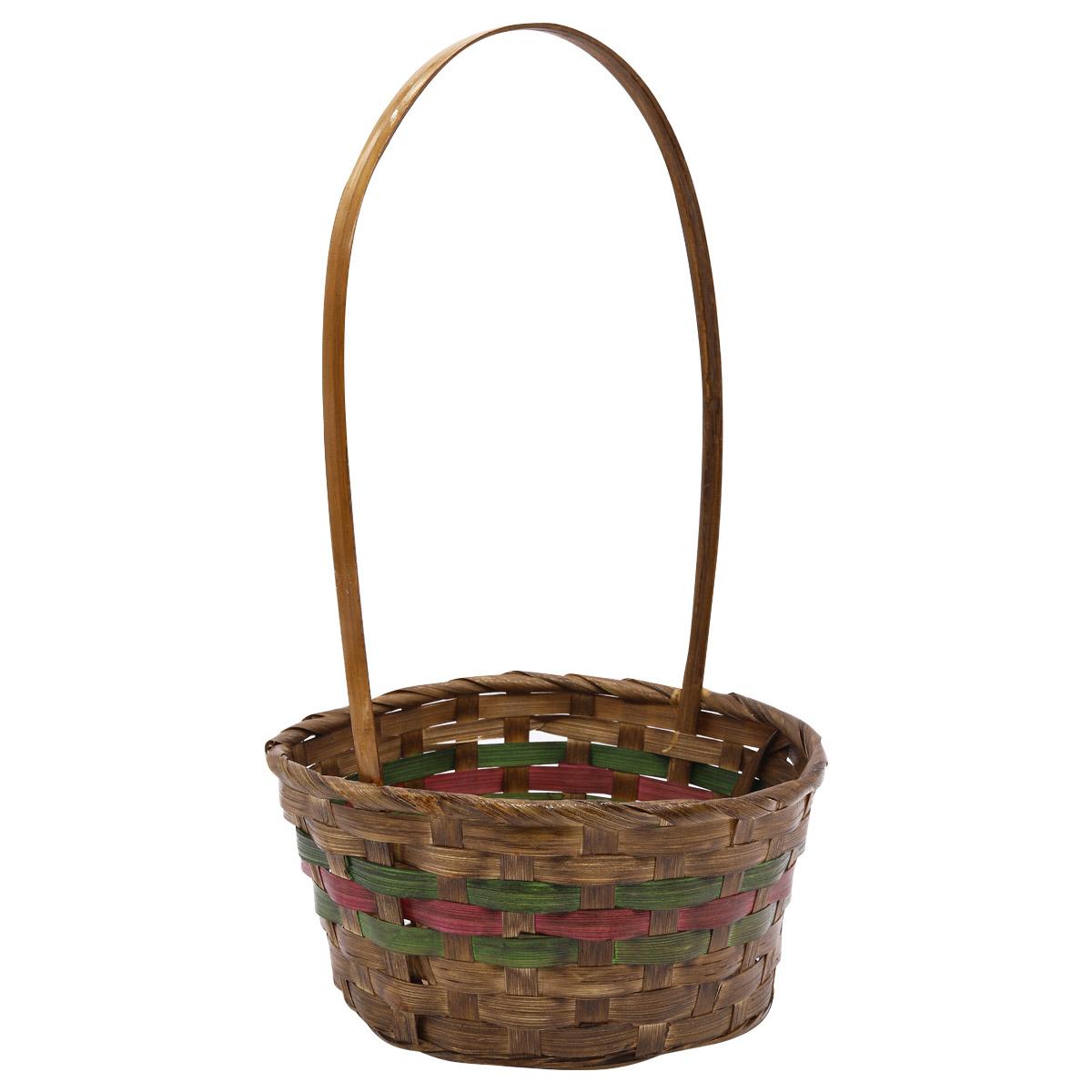 19HJ19093 Корзина плетеная бамбук 'M' 20,5*10,5*H35см, цв. коричневый Астра