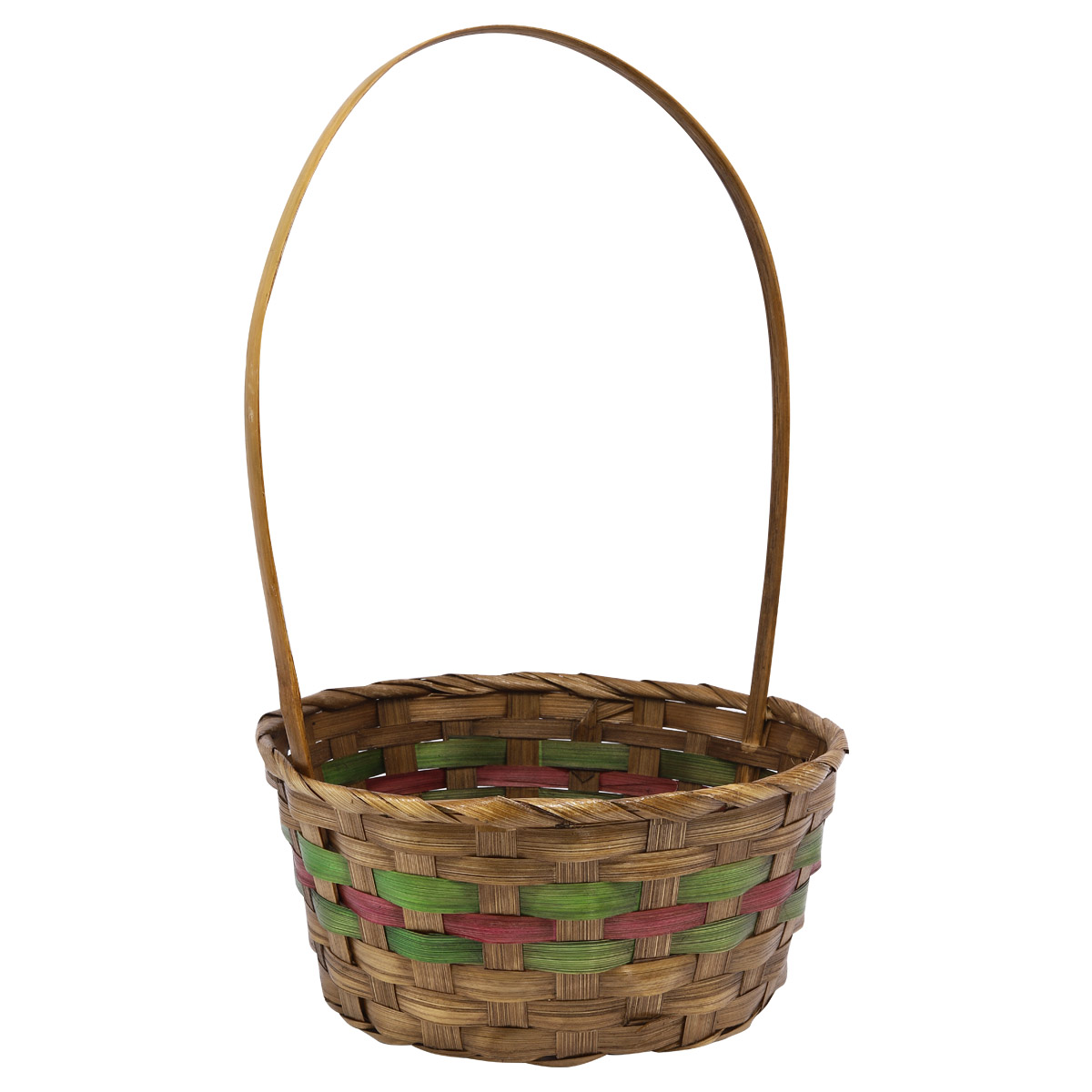 19HJ19093 Корзина плетеная бамбук 'L' 23*11*H38см, цв. коричневый Астра