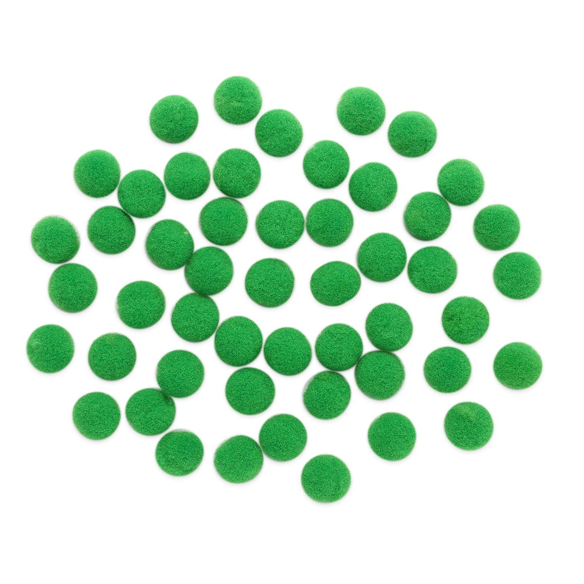AR077 Помпоны, 1см (18 зеленый)