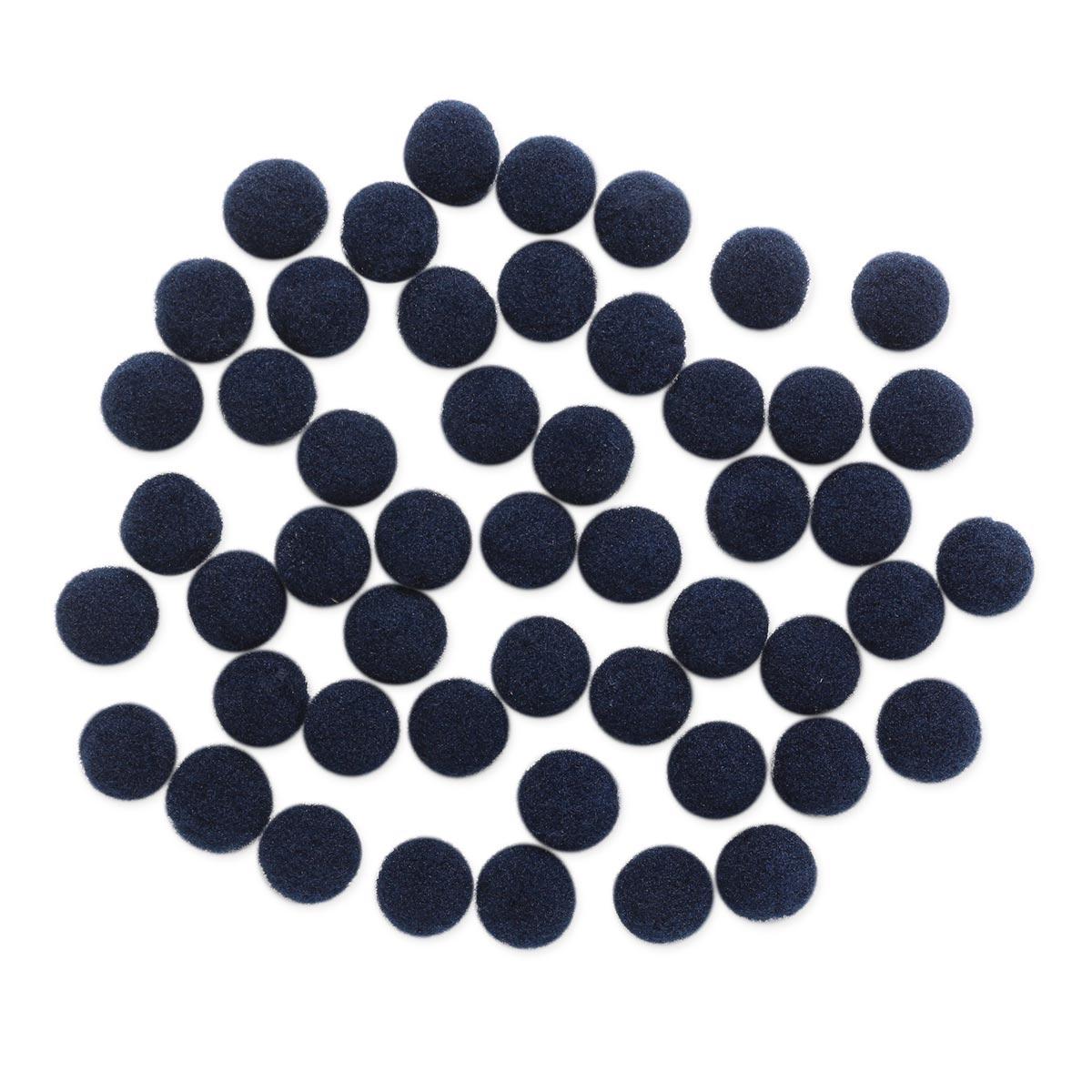 AR077 Помпоны, 1см (27 темно синий)