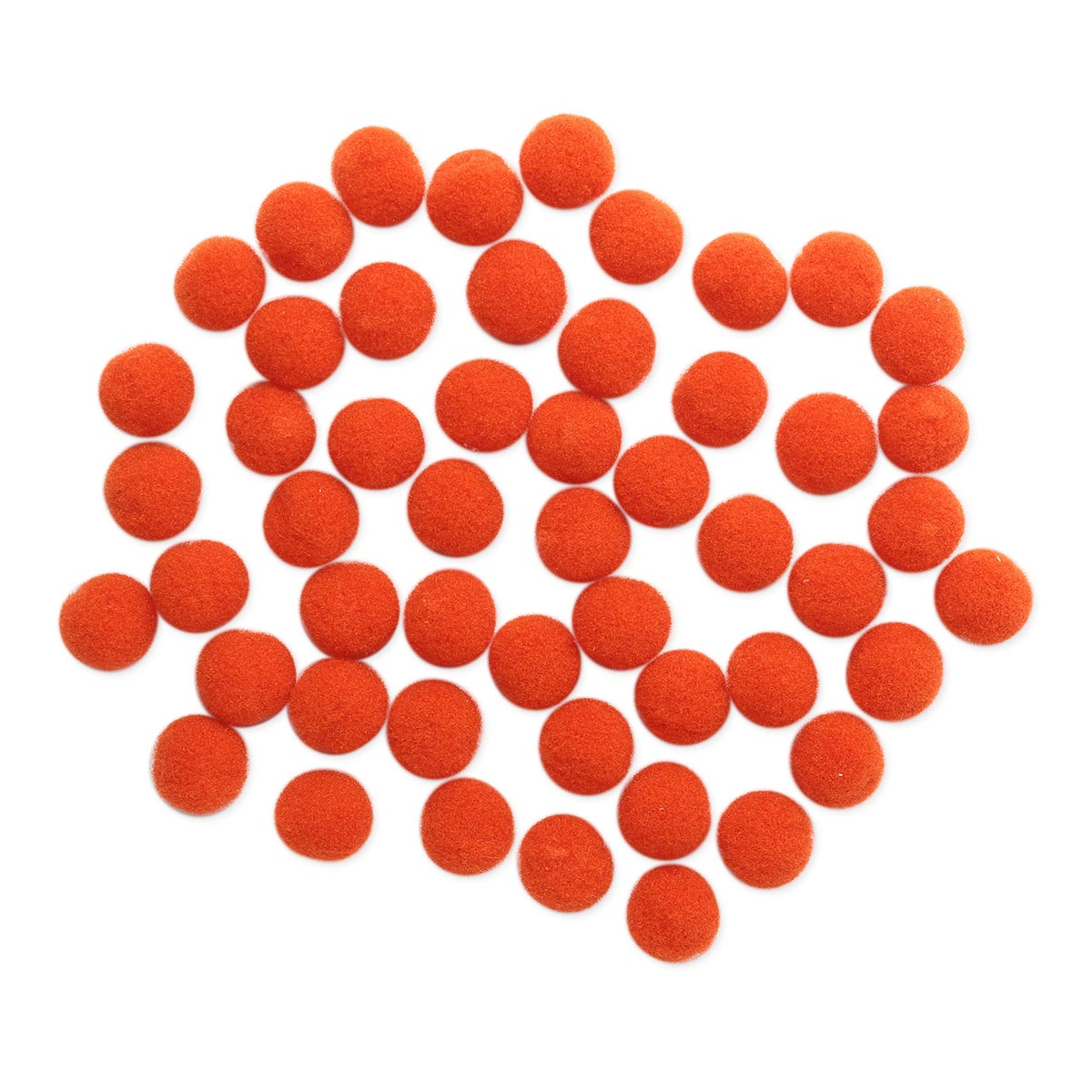 AR077 Помпоны, 1см (25 оранжевый)