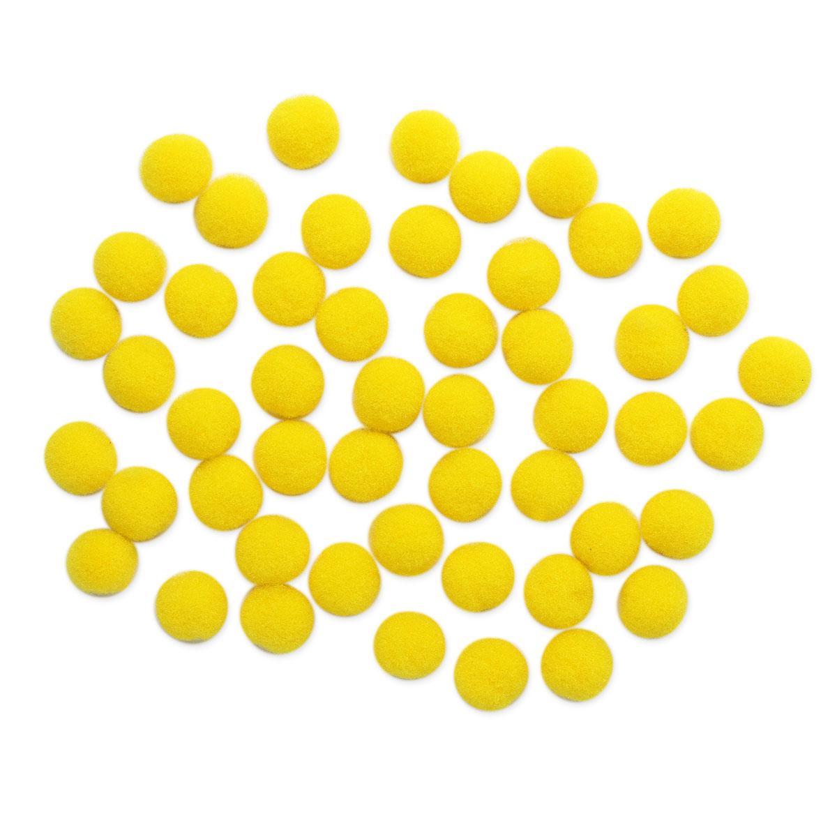 AR077 Помпоны, 1см (09 желтый)
