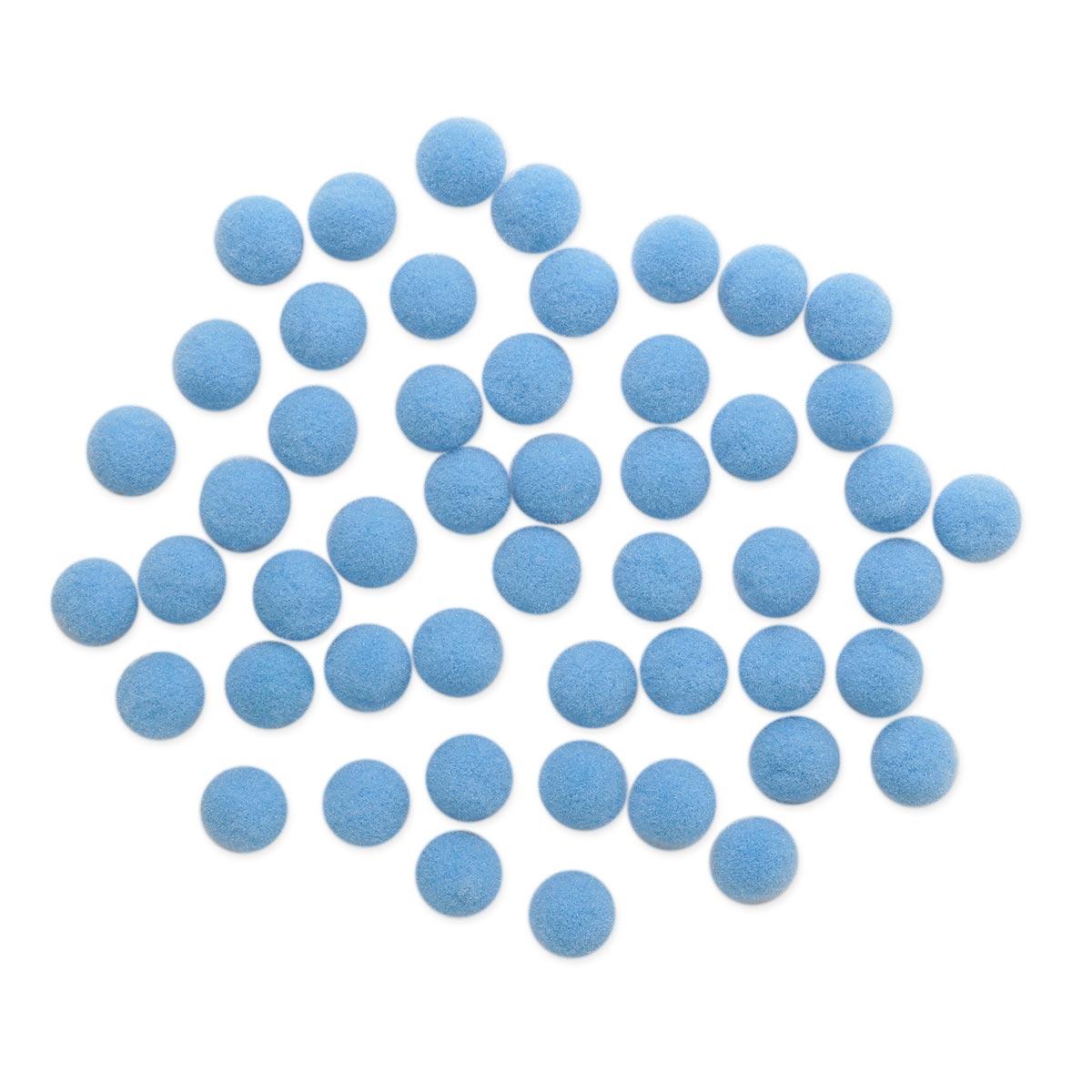 AR077 Помпоны, 1см (38 голубой)
