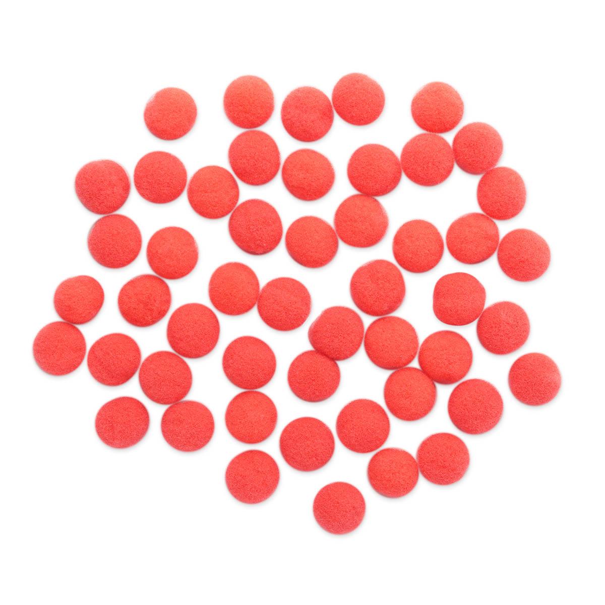 AR077 Помпоны, 1см (28 ярко розовый)