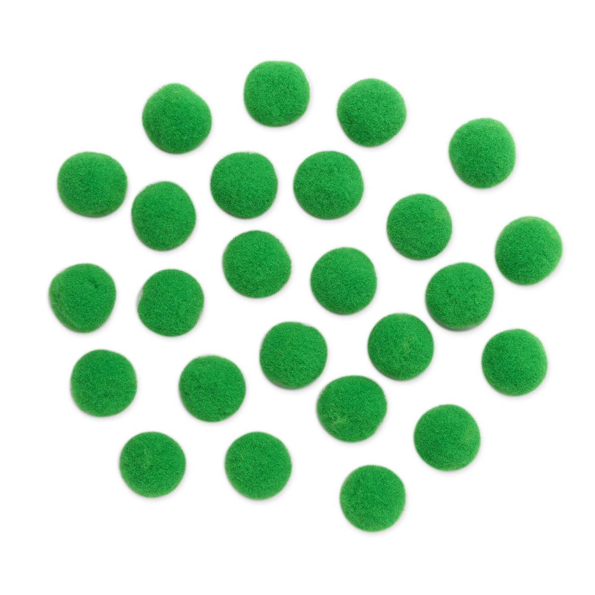 AR078 Помпоны, 1,5см (18 зеленый)