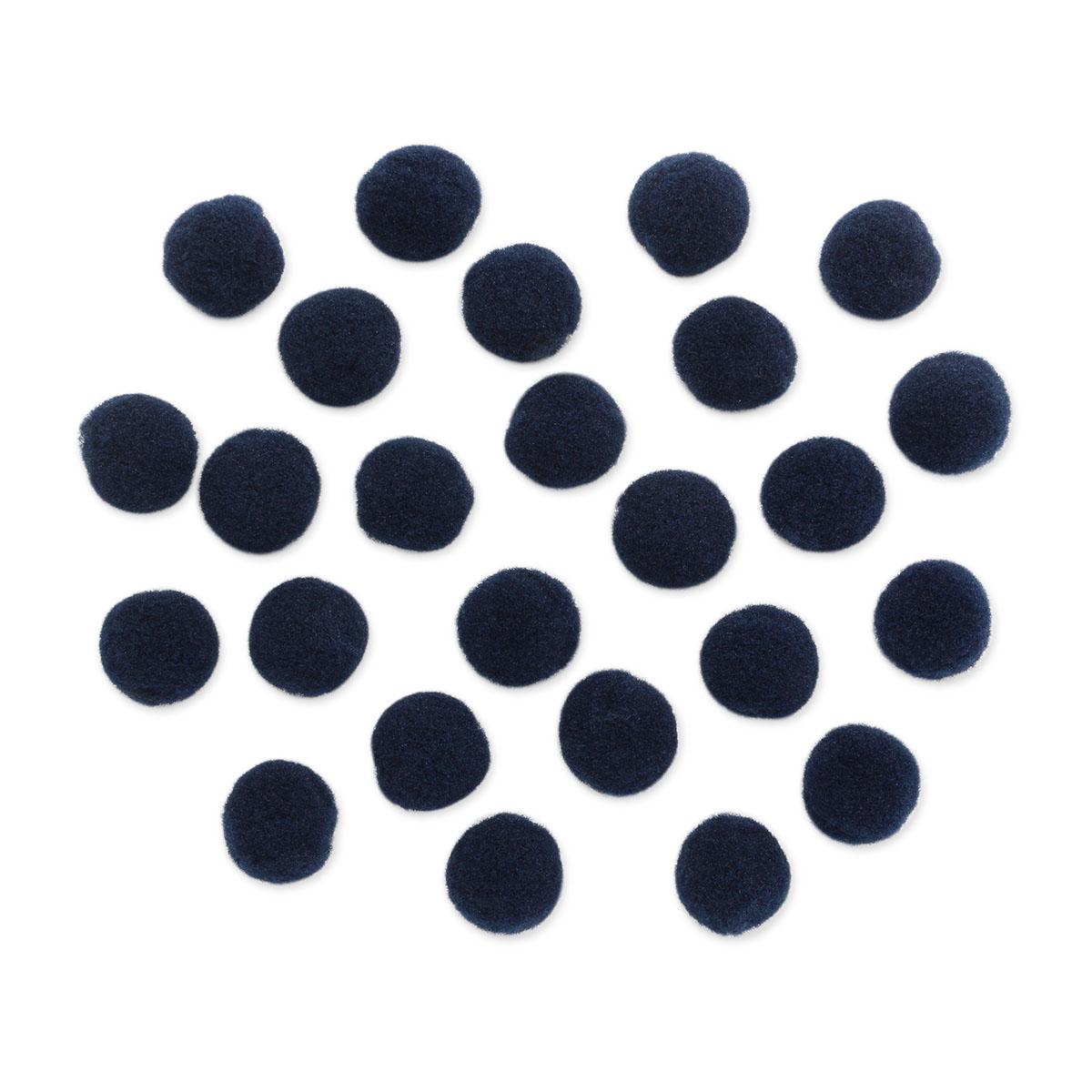 AR078 Помпоны, 1,5см (27 темно синий)