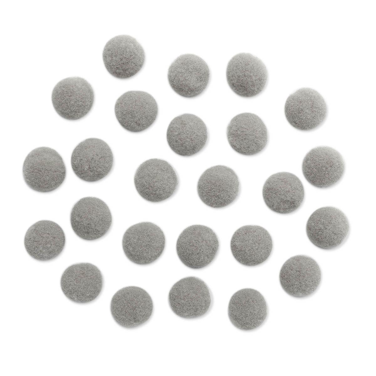 AR078 Помпоны, 1,5см (26 серый)