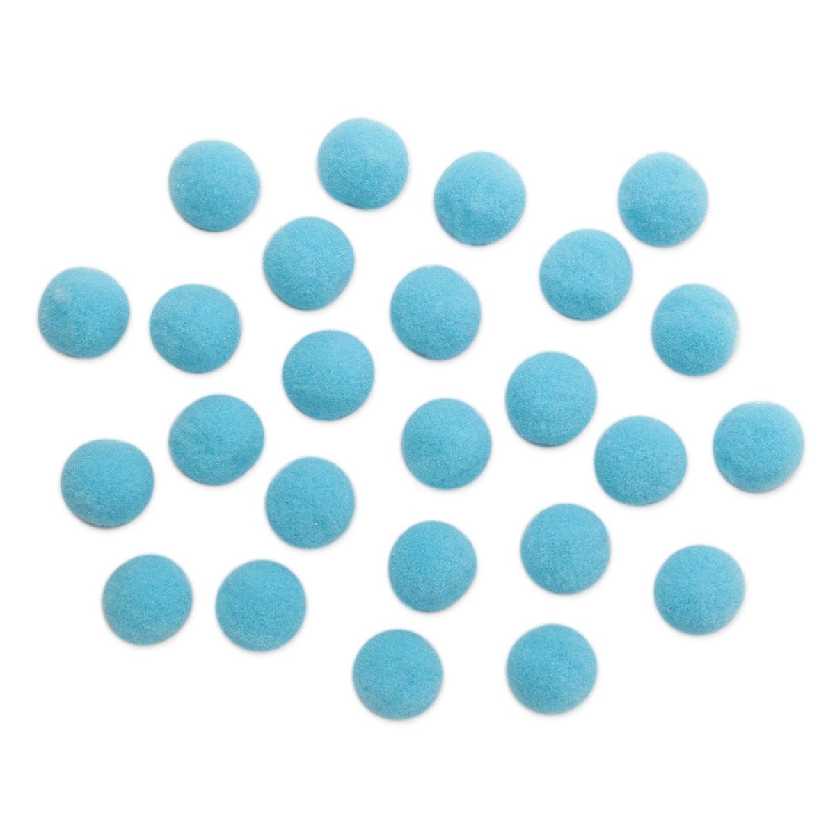 AR079 Помпоны, 2см (12 голубой)