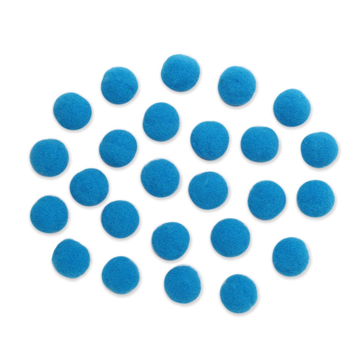 AR079 Помпоны, 2см (42 синий)