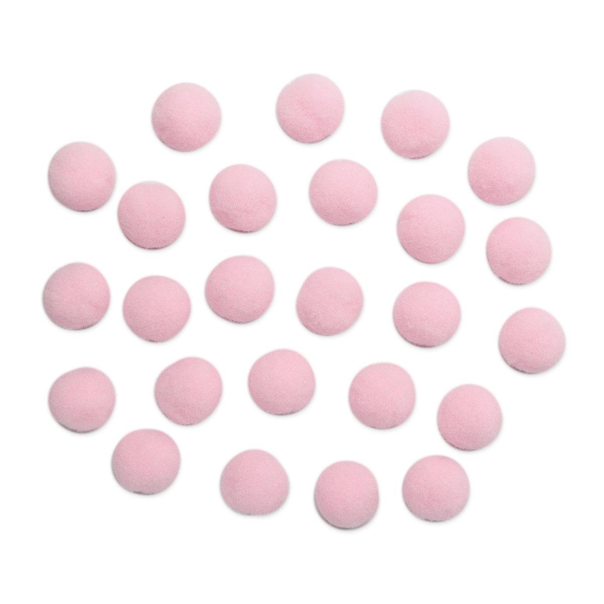 AR079 Помпоны, 2см (15 розовый)