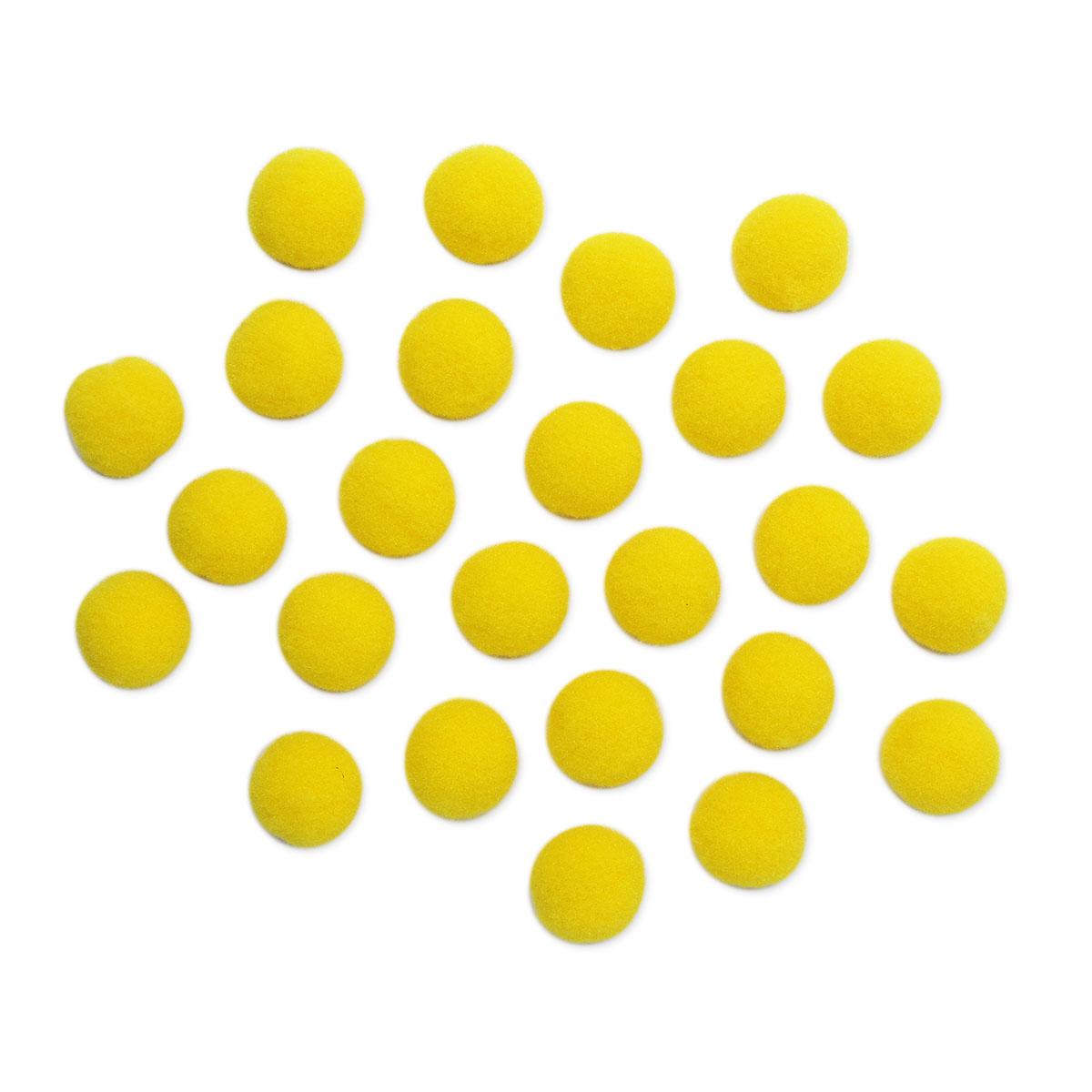 AR080 Помпоны, 2,5см (09 желтый)