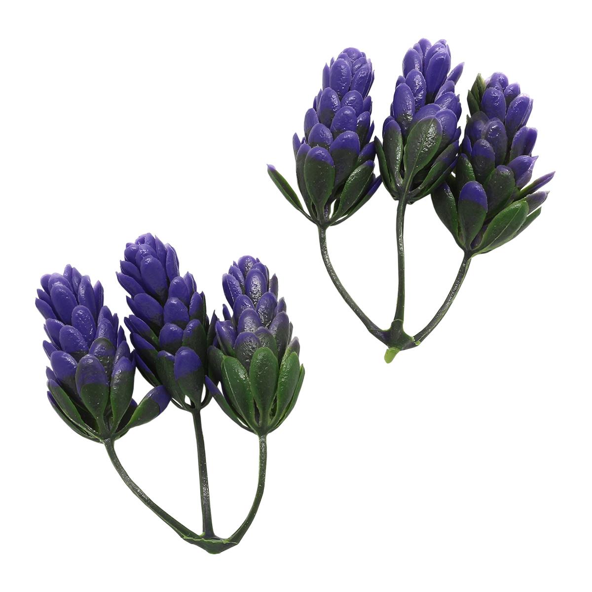 2AR171 Декоративный хмель 6,5см (фиолетовый)