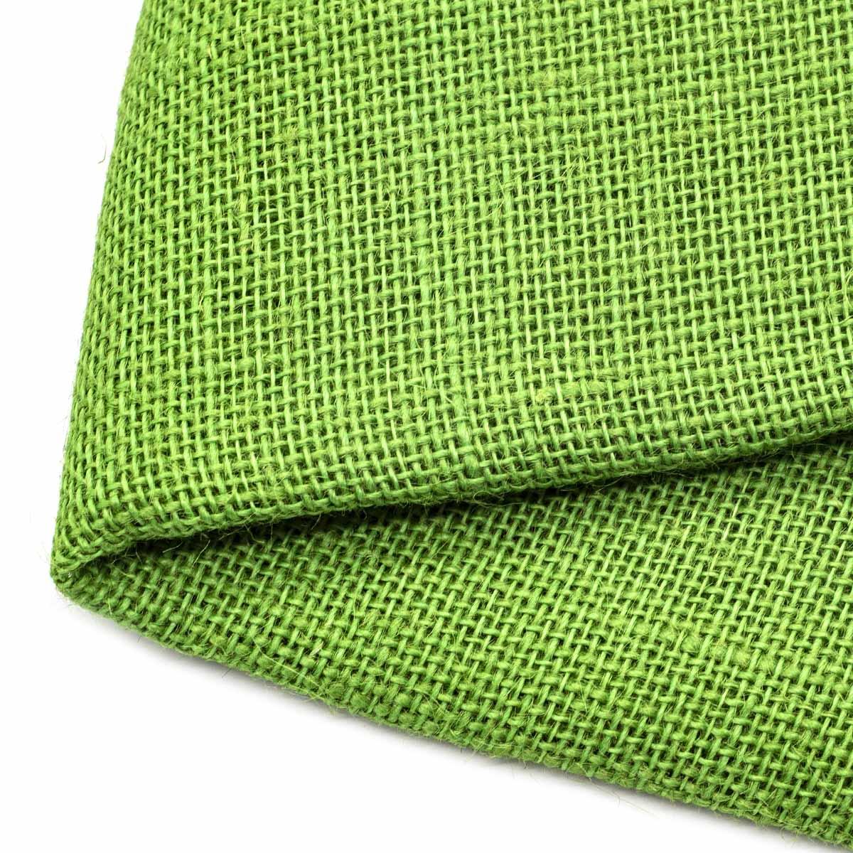 2AR113 Рогожка 100% лен 48*50см (зеленый) фото