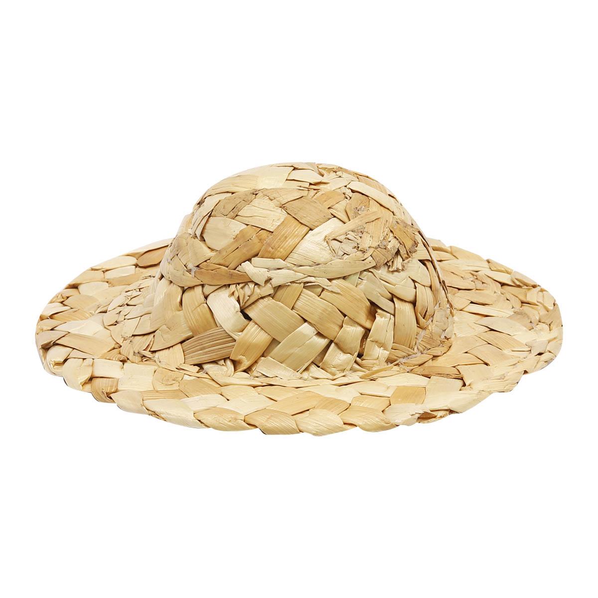 AR044 Шляпка соломенная, 10см