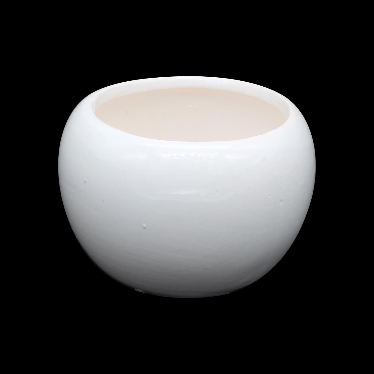 AR068 Горшок мини керамический, круглый, для цветов, 5,5*4,5см, цв. белый