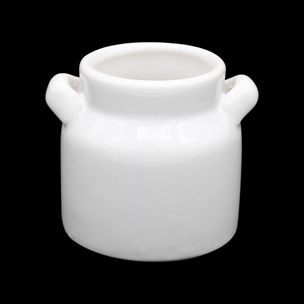 AR069 Бидон мини керамический 5*6,5см, цв. белый