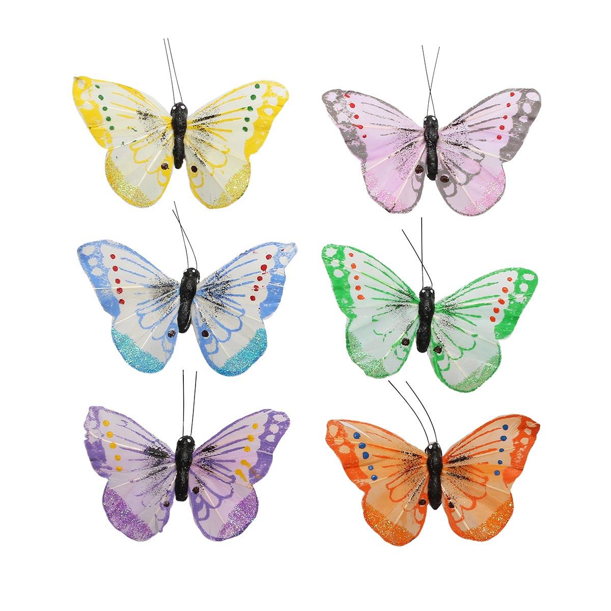 AR179 Бабочки 7см, 12шт