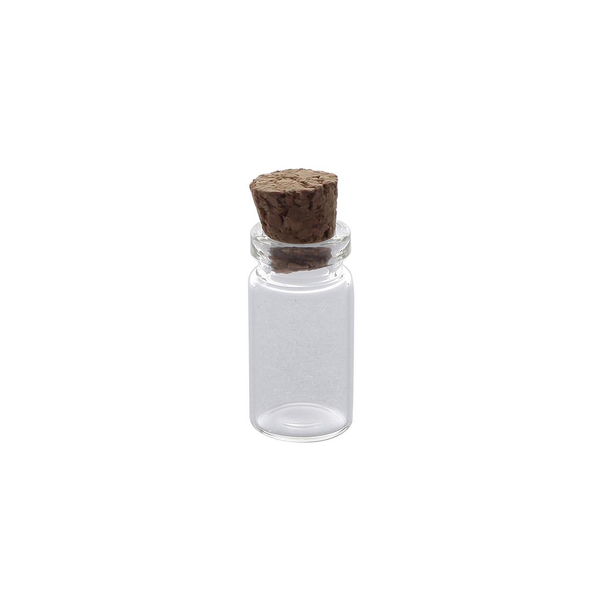 AR276 Стеклянная бутылочка с пробкой 1,1*2см