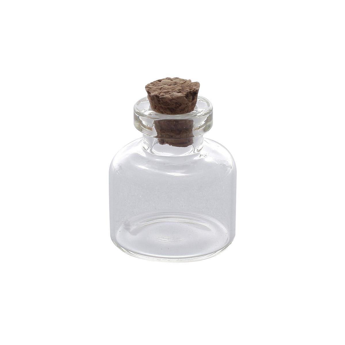 AR278 Стеклянная бутылочка с пробкой 2,2*2,5см