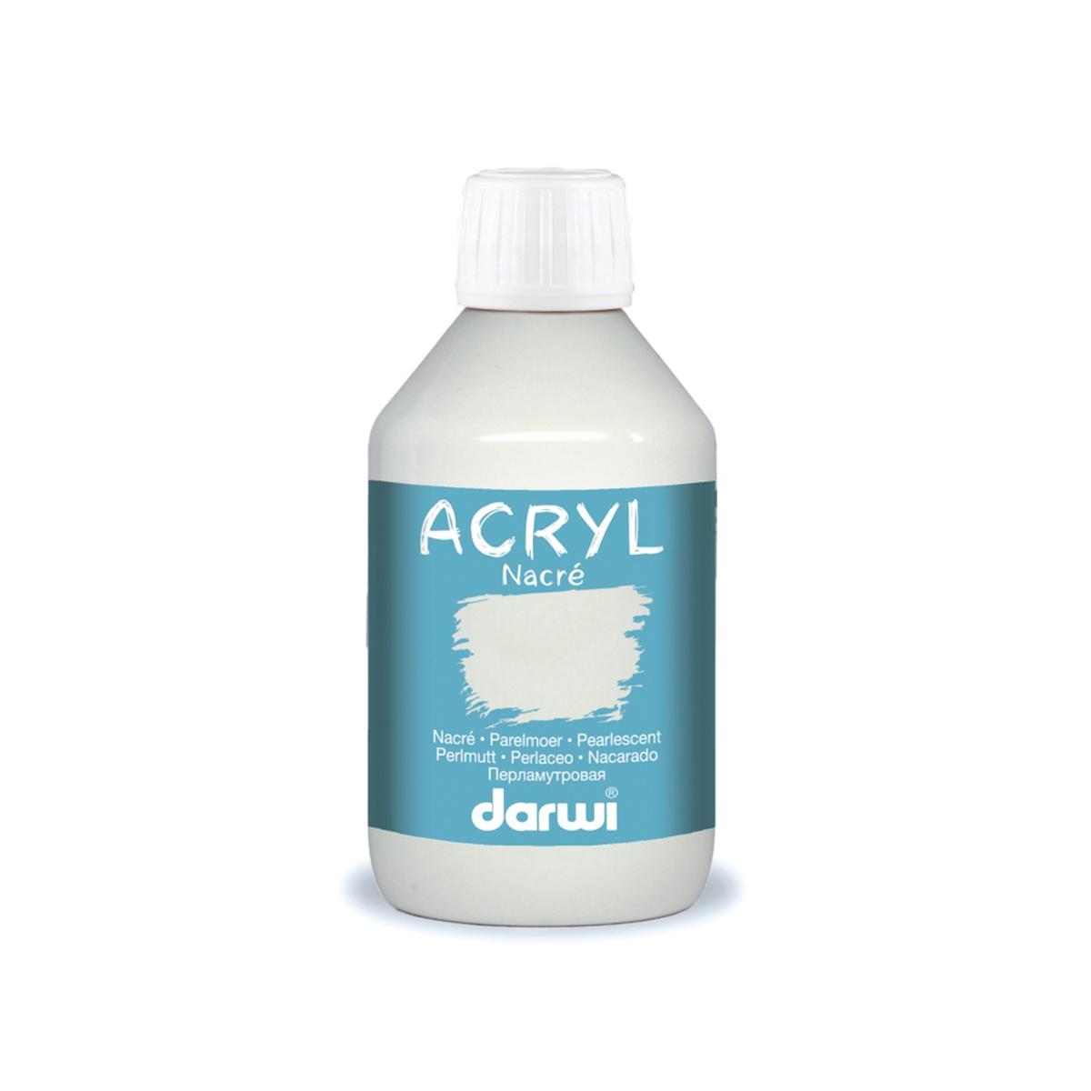 DA0210250 Акриловая краска NACRE перламутровая Darwi, 250мл