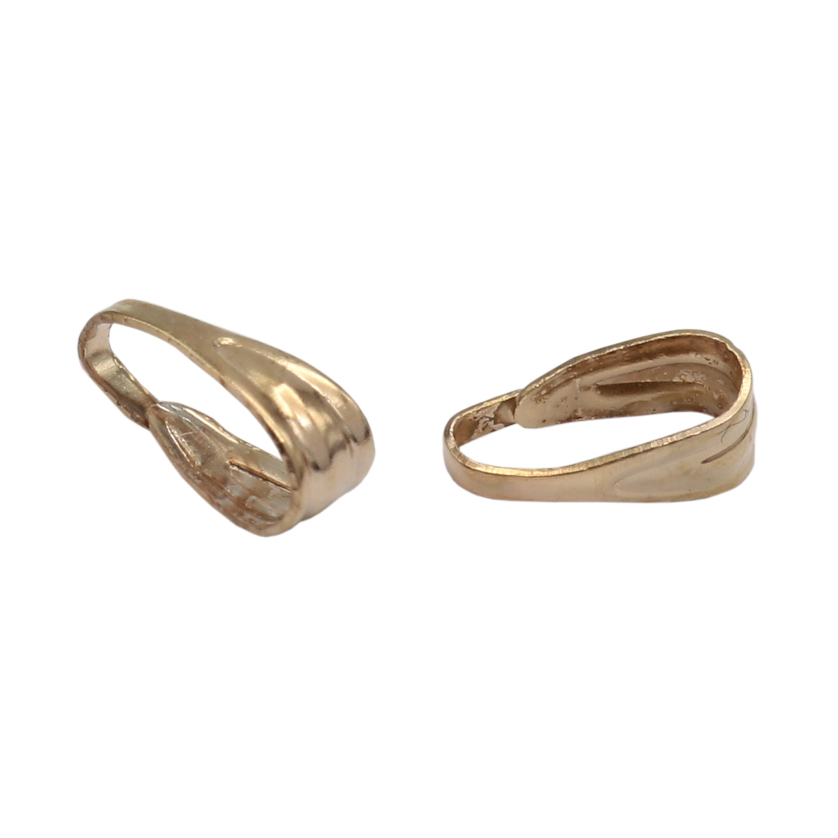 4AR193 Петля-держатель для кулона, 5шт/упак, Астра (Золото)