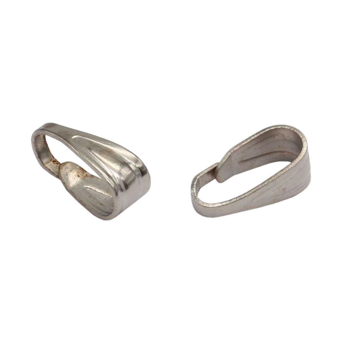 4AR193 Петля-держатель для кулона, 5шт/упак, Астра (Никель)