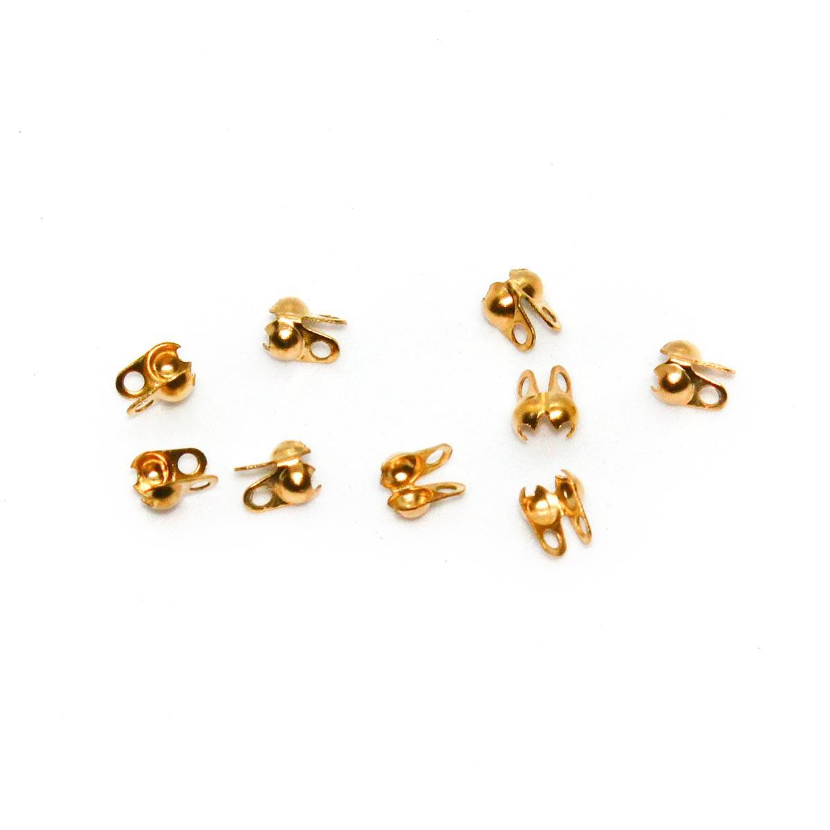 4AR219 Зажим для узла 1,6мм, 20шт/упак, Астра (Золото)