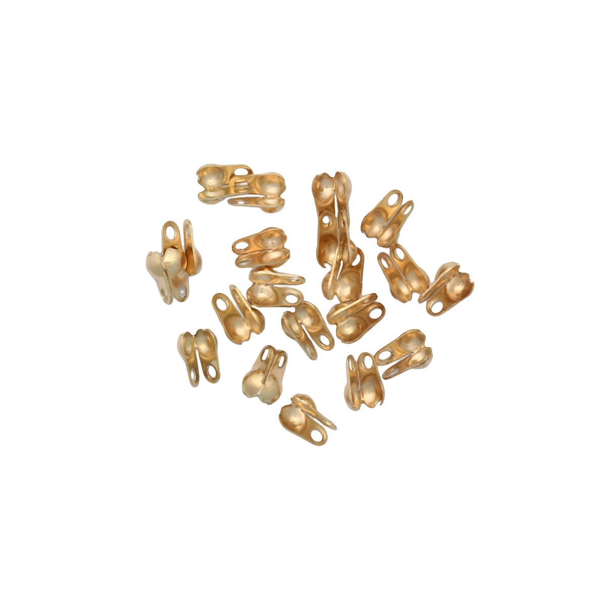 4AR220 Зажим для узла 2,4мм, 20/упак, Астра (Золото)