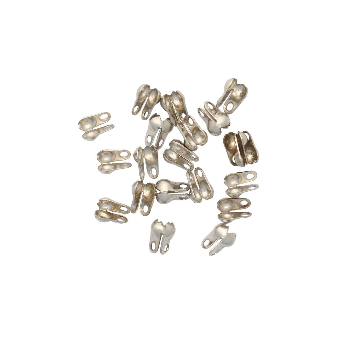 4AR220 Зажим для узла 2,4мм, 20/упак, Астра (Никель)